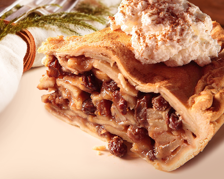 Apple Pecan Raisin Pie