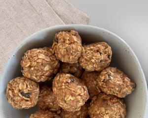 oatmeal raisin no bake energy balls